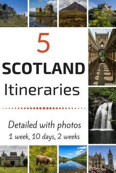 Planee su viaje de Escocia con las 5 detalladas sugerencias de itinerario de Escocia - Parada de paradas con fotos - incluyendo, Edimburgo, Glencoe, Trossachs, Isla de Skye ...- Aprovechar al máximo sus viajes a Escocia con algunos de los mejores paisajes de Escocia