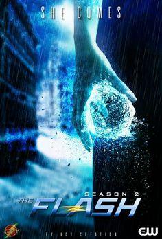 The Flash Killer Frost, Caitlin Snow - Danielle Panabaker. The Flash season 2 fan art