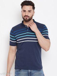 Tshirts Austin Wood Men's Navy Blue Striped Polo Neck T-shirt Fabric: Cotton Sleeve Length: Short Sleeves Pattern: Striped Multipack: 1 Sizes: S (Chest Size: 38 in Length Size: 27 in)  M (Chest Size: 40 in Length Size: 27.5 in)  L (Chest Size: 42 in Length Size: 28 in)  XL (Chest Size: 44 in Length Size: 28.5 in)  XXL (Chest Size: 46 in Length Size: 29 in)  XXXL (Chest Size: 48 in Length Size: 29.5 in) Country of Origin: India Sizes Available: S, M, L, XL, XXL, XXXL   Catalog Rating: ★4.1 (12668)  Catalog Name: Trendy Partywear Men Tshirts CatalogID_833565 C70-SC1205 Code: 713-5572447-927