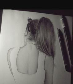 Imagem de ariana grande, art, and drawing