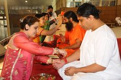 Celebration of Rakshabandhan festival in Patanjali Yogpeeth,Haridwar