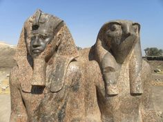 Dyad of Amenhotep III and Horus. Kom el-Hettan- Luxor Times: New Kingdom