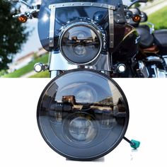 Aliexpress.com : Buy Black / Chrome Round 7 inch led motorcycle headlight for motorycycle headlamp motorbike driving light with DOT certificate from Reliable headlight strobe light kit suppliers on Guangzhou Chengguang Technology Co., Ltd.