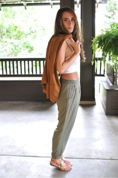 The Crop Top Dilemma + Olive Parachute Pants // A New Bloom