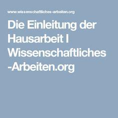 Die Einleitung der Hausarbeit I Wissenschaftliches-Arbeiten.org