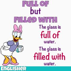 Grammar tips: Full of / Filled with