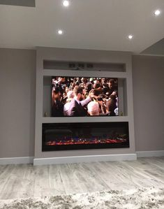 2019 NEW PREMIUM PRODUCT Black Wall Mounted Electric Fire with 3 colour Flames and can be inserted (Pebbles, Logs and Crystals)! – Exotic Products Limited – do pallet Feature Wall Living Room, Living Room Decor Cozy, Living Room Tv, Living Room With Fireplace, Tv On Wall Ideas Living Room, Tv Feature Wall, Fireplace Tv Wall, Build A Fireplace, Fireplace Design