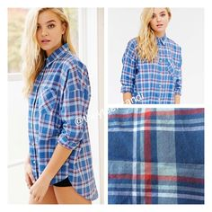 Urban Outfitters Margot Button-Down Boyfriend Top Urban Outfitters Button-Down Boyfriend Shirt by Margot. 100% cotton. Cut longer in the back. Red, white, and blue plaid. Sold out online. Other sizes available. Urban Outfitters Tops Button Down Shirts