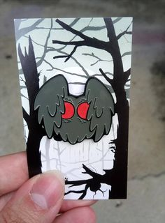 Hey, I found this really awesome Etsy listing at https://www.etsy.com/listing/538649594/mothman-glow-in-the-dark-enamel-pin