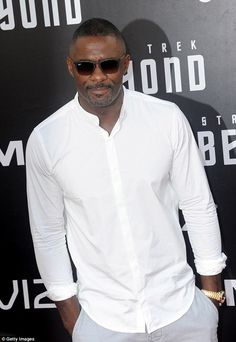 Never ending rumour: Idris has been batting away the rumours of him appearing as James Bond for years after Daniel Craig stated he thought the actor would be a suitable replacement