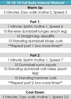 10-10-10 quick interval workout designed for doing at a small (e.g. apartment) gym.