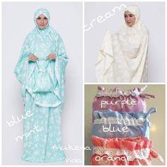 Mukena Vida dan Line Purple, Blue, Dan, Sewing, Fashion, Moda, Dressmaking, Couture, Fashion Styles