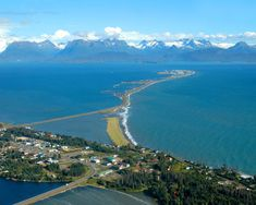 Homer, AK, I stayed in a hotel at the end of the spit....where otters swam outside my window!