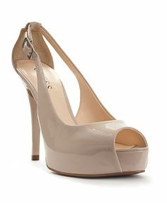 GUESS Women's Shoes, Hondo Peep-Toe Pumps - Shoes - Macy's