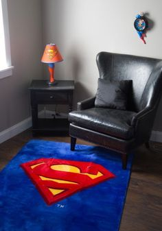 JP Imports Superman Shield Logo 4 X 6 Area Rug by JP Imports -- Visit the image link more details. Superman Nursery, Superman Room, Superman Gifts, Superhero Room, Superman Stuff, Marvel Gifts, Room Themes, Man Cave, Kids Room