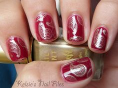 Kelsie's Nail Files: Barry M Raspberry & Gold Foil with Bundle Monster #315