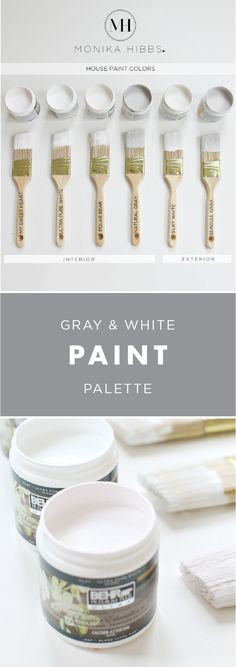 Sometimes less is more, especially when it comes to creating a relaxing, minimalist space in your home. See how Monika of @monikahibbs sticks to a gray and white paint palette throughout her entire home with this sophisticated collection of colors. | Featured Colors: My Sweetheart, Ultra White, Polar Bear, Natural Gray, Silky White, and Seagull Gray