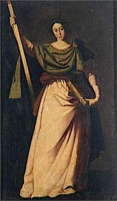 St Eulalia Wood Print by Zurbaran Francisco de. All wood prints are professionally printed, packaged, and shipped within 3 - 4 business days and delivered ready-to-hang on your wall. Baroque Painting, Baroque Art, Caravaggio, Francisco Zurbaran, Religious Paintings, Hermitage Museum, Spanish Painters, Mystique, Art Database