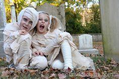 Mummy easy handmade halloween costume tutorial - The Polkadot Chair