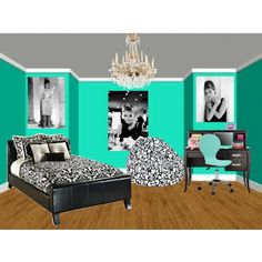 Tiffany inspired room , (:, created by hannahlovesbananas-super cute ideas!