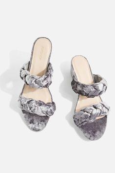 1c8d9cad15 Dee Dee Grey Velvet Platform Sandals Dee Dee, Block Heel Shoes, Platform,  Topshop