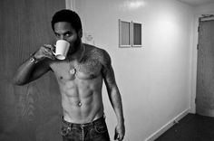 "Yep, with the way he is looking over that coffee cup, I could wake up to him every morning. #putthe""s""insexy"