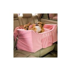 Snoozer The Luxury Pet Car Seat in Pink Microsuede=•Holds one or more pets up to 35 lbs