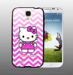Chevron Hello Kitty - design for Samsung Galaxy S4 Black case   DreamCase - Accessories on ArtFire