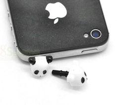 Panda Dust Dustproof Plug iPhone/ iPad Earphone Stopper Decor Ornament