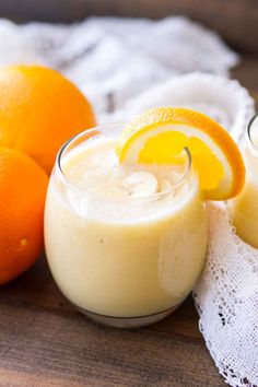Fresh Orange Smoothie Recipe ~ Only 4 Ingredients Makes it a Perfect Quick, Easy Breakfast or Snack! Packed with Vitamin-C to Help You Feel Great! ~ https://www.julieseatsandtreats.com