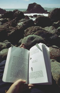 Book.pages.words.allone.reading.nature.stones.sea.free.breathe.wind.warm.