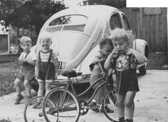 Reminds me of my childhood when I was about two and had a birthday party ~ we lived near Venice Beach, CA. and my much older brother had a Volkswagen  van he lived in and a super beetle <3