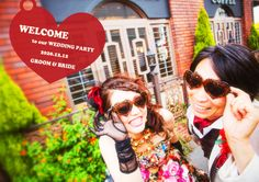 Photos in advance Welcome board