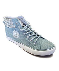 Another great find on #zulily! Green Denim Hi-Top Sneaker #zulilyfinds