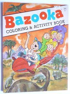 RARE 1983 Bazooka Joe Coloring Book Topps Chewing Gum drawing llyod birmingham Bazooka Bubble Gum, Chewing Gum, Book Activities, Birmingham, Coloring Books, Bubbles, Club, Comics, Cool Stuff