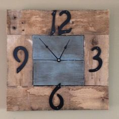 Rustic Clock Made from Reclaimed Materials by Godwulfstudios, $45.00