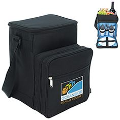 Ideal for every picnic! Zippered front pocket for plastic plates, cups, cutlery and napkins (for 2 people). Adjustable shoulder strap, and PEVA liner. Made of polyester. 9 W x H x 8 D Lunch Cooler, Picnic Cooler, Plastic Plates, Holiday Gifts, Snacks, Coolers, Shoulder Strap, Napkins, Cups