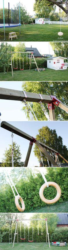 Hemmabyggd gungställning i trä   HUSnrNIO