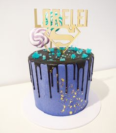 Topped with gold flake, black ganache drip, sugar crystals and personalised topper Sugar Crystals, Drip Cakes, Desserts, Gold, Black, Black People, Deserts, Dessert, Postres