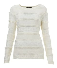 Dark Romance white lace long sleeved top.