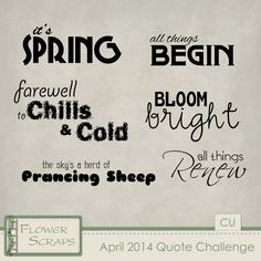 FREE April 2014 Quote Challenge