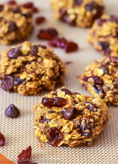 Low Fat Chocolate Chip Pumpkin Oatmeal Cookies-9