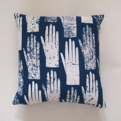 The design on this cushion cover was inspired by a tiny Victorian glove found in an old travelling case. | Jo Waterhouse