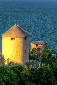 Old windmill in Tyros, Arcadia, Greece | Flickr - Photo by photonious2