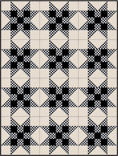 Racing Check Star Pre-cut Quilt Blocks Kit from Quilt Kit Shop