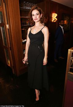 Lily James, classic and timeless