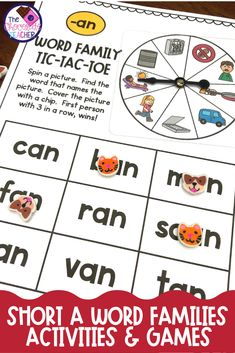 Recognizing word chunks is an important reading skill. This worksheet free unit of activities for short A word families is something that can help teach these chunks.  Included are activities like sorting, games, puzzles, and more. It's perfect for kindergarten or first grade ELA centers or stations . Words are mostly CVC words but a few CCVC words are included. Click to see these fun phonics activities. {first grade phonics, kindergarten phonics, 1st grade} Fun Phonics Activities, Short Vowel Activities, Word Family Activities, First Grade Phonics, Kindergarten Phonics, Teaching Phonics, Guided Reading Lessons, Reading Skills, Short I Words