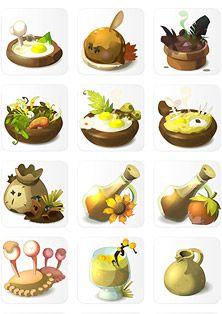 Wakfu MMORPG - drink and food icons