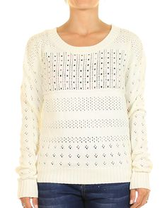 Inseption - Rusty - Womens - Game Day Crew Knit - Cream