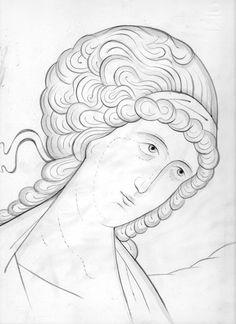 Angel Byzantine Art, Writing Icon, Learn Art, Face Icon, Art, Byzantine Icons, Christian Art, Art Icon, Sacred Art
